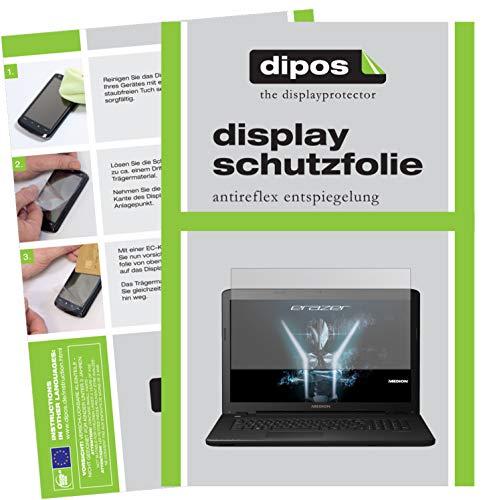 dipos I 2X Protector de Pantalla Mate Compatible con Medion Erazer P6689 pelicula Protectora