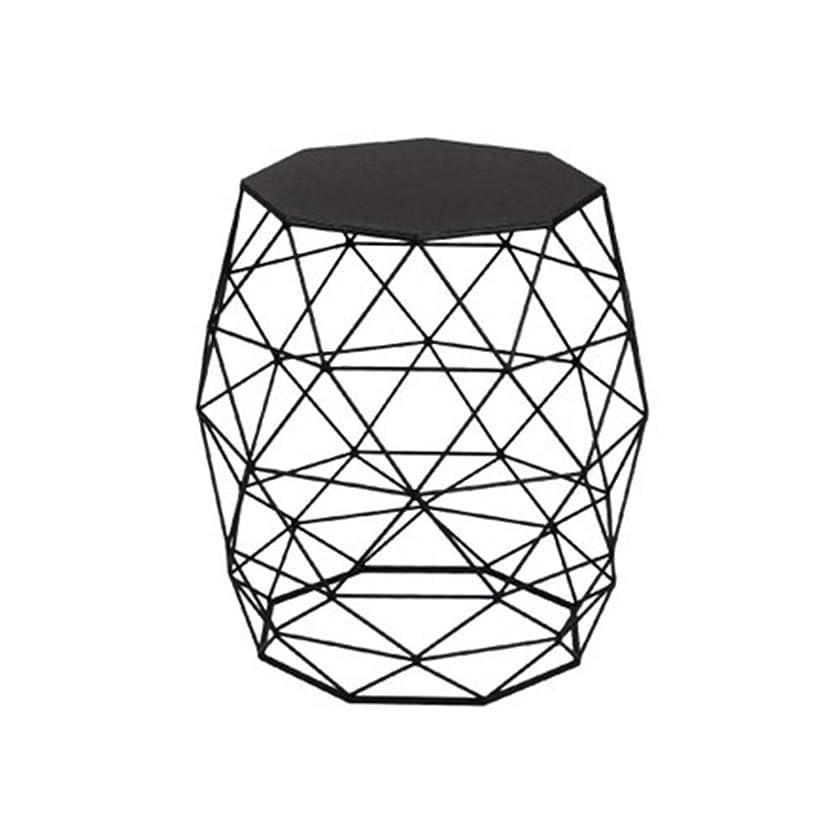 土すみませんドライバTLMY 幾何学的な小さなコーヒーテーブル、シンプルな小さなテーブルミニコーナーリビングルームのソファサイドテーブル、寝室のベッドサイドテーブル 小さいテーブル (Color : Black)
