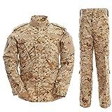 Noga - Traje de chaqueta y pantalón de camuflaje, de combate, de campo, de uniforme militar, para juegos, paintball, Verano., Hombre, color Desierto Camo., tamaño XL