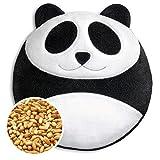cuscino riscaldabile leschi per la pancia, la schiena e la zona lombare/per coliche dei neonati e il ciclo/per microonde, con semi di grano/cuscino termico per bambini/bao il panda, bianco nero