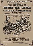 Poster, Motiv: Uganda mit Uganda Eisenbahn, 1800er Jahre,