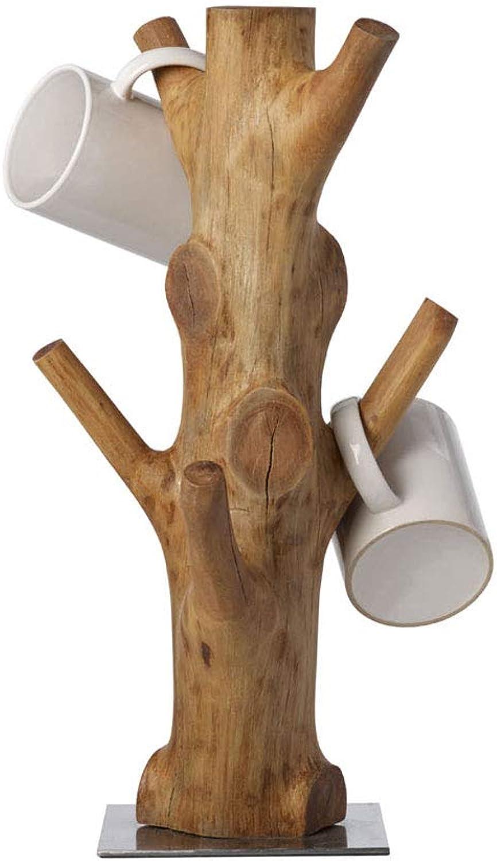 MSF Besteckstnder aus Holz, Tassenhalter, Weihnachtsdekoration, zum Aufbewahren und Trocknen von Tassen, beschwerter Boden, 100% handgefertigt, hergestellt in Thailand