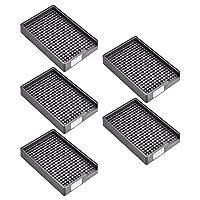 帯電防止ネジトレイ、プラスチックネジトレイホルダー2.5mm-3.0mm(黒、5PCS)