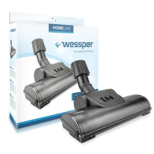 Wessper Turbo Boquilla para Suelos para aspiradora Rowenta Spaceo 1900W (ø32mm-38mm, con Ruedas)