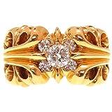 (クロムハーツ)CHROME HEARTS RNG K T 5DMND リング 指輪 K22イエローゴールド メンズ 0151 中古