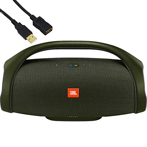 JBL Boombox - Waterproof Portable Bluetooth Speaker - Family Holiday & Home Party - IPX7 Water-Resistant, 20,000 mAh Battery up to 24 Hours of Nonstop Playback - BROAGE USB Extension Cord - Green