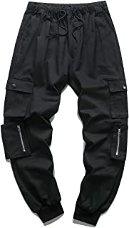 Men's Casual Elastic Waist Jogger Pants Cargo Pants Ankle Length Pants