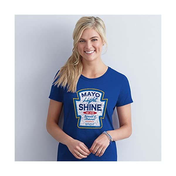 Kerusso Adult T-Shirt – Mayo Light Shine XL Christian T-Shirt,Royal Blue,X-Large