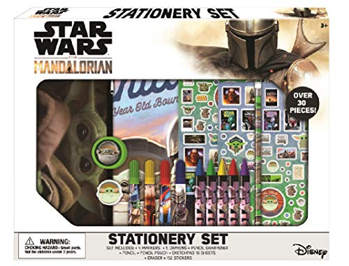 Disney Star Wars Baby Yoda Mandalorian Kids Coloring Set 30 Pc. w/Stickers & Pencil