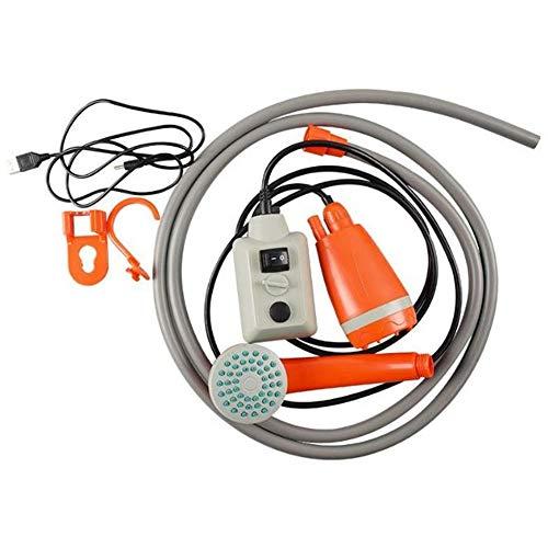 Kaxofang Ducha PortáTil para Acampar, Bomba de Ducha Compacta con BateríA Recargable USB, Cabezal de Ducha PortáTil para Exteriores