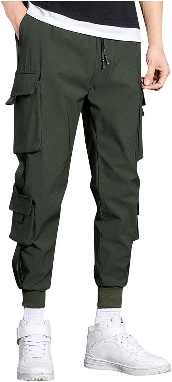 Sweatpants for Men Jooger Slim Fit Cargo Pants Loose Plus Size Sports Harlem Pants Nine Pants Casual Trousers