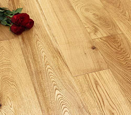 Suelo de madera de roble de ingeniería Click - 14 x 190 x RL (mm) - Cepillado aceitado **muestra**