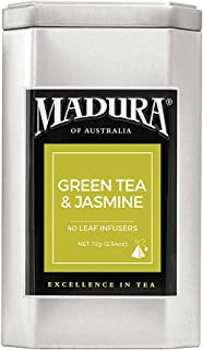 Madura Green and Jasmine 40 Leaf Infusers in Tea Caddy, 1 x 72 g