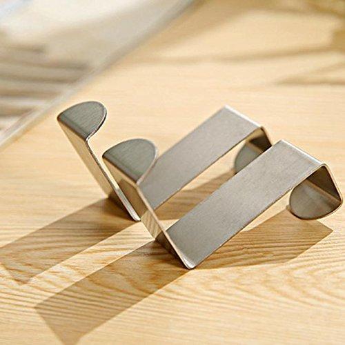 BXzhiri Over The Door Hooks Silver - 2pcs Stainless Kitchen Cabinet for Bathroom, Kitchen, Bedroom, Shower Room Hanging