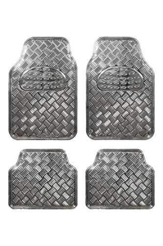 Bc Corona GOM001015 Alfombra Universal de Goma en Diseño Aluminio