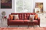 Casa Padrino Designer 3-Seater Berlin ocher-Red - Hotel Furniture