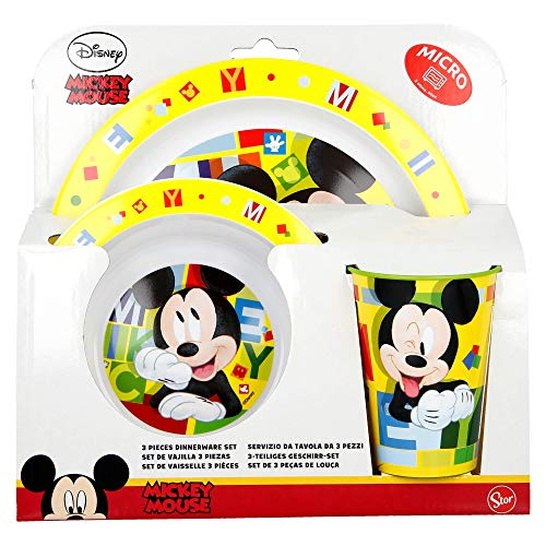 SET MICRO 3 PCS. MICKEY MOUSE - DISNEY - WATERCOLORS