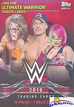 2018 Topps WWE Wrestling EXCLUSIVE Factory Sealed Retail Box with RELIC Card! Look for Cards & Autographs of WWE Superstars The Undertaker Triple H Jon Cena Stephanie McMahon & Many More! WOWZZER!