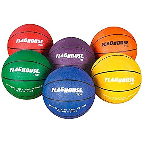 For Sale! FLAGHOUSE Flying Colors Rubber 6 Basketball Set, Size 7