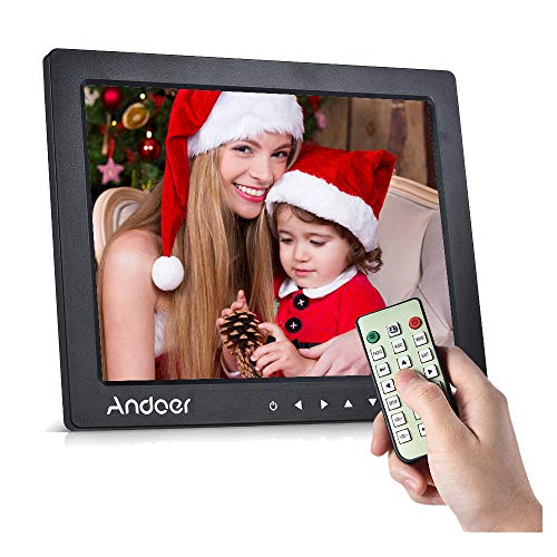"Andoer 10\"" HD Digital Photo Frame Desktop Album Display Bild 1080P MP4 Video MP3 Audio eBook Clock Kalender"