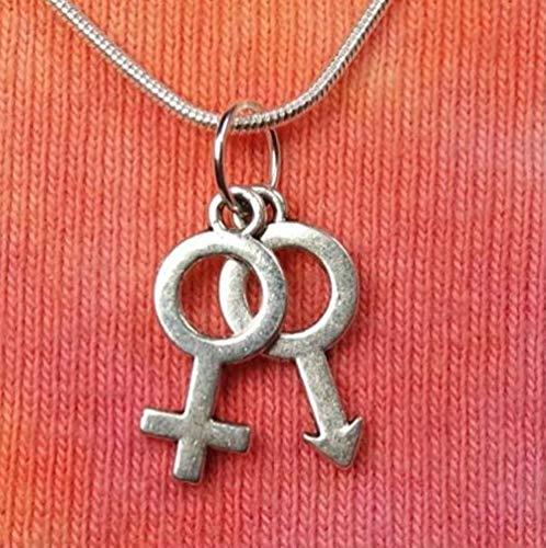 ZHIFUBA Co.,Ltd Necklace Female Gender Symbol Necklace Pendant Vintage Silver Charm Copper Snake Chain Choker Fashion Jewelry Women Accessories New Gift for Women