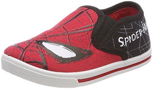 Spiderman Boys Kids Low Sneakers, Baskets Slip-on Garçon Fille, White Black, 29 EU