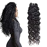 Water Wave Curl 9A 1 Single Bundle Deal Real Virgin Raw Human Hair Unprocessed Double Weft Weave Natural Color (20')