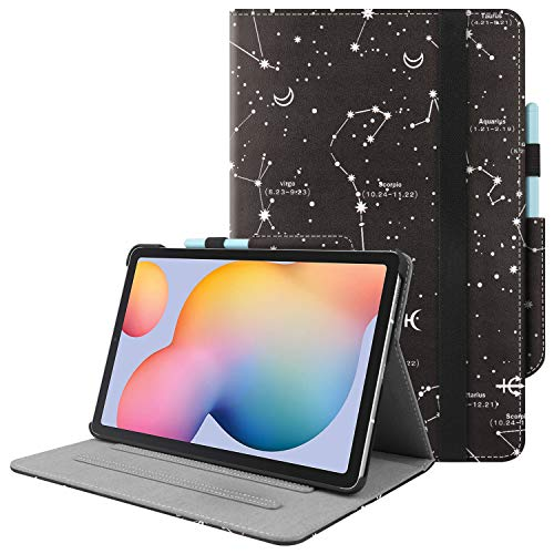 HoYiXi Custodia per Samsung Galaxy Tab S6 Lite 10.4 2020 Ultra Slim Case in Pelle Cover con Supporto Funzione Custodia di Tablet per Samsung Galaxy Tab S6 Lite 10.4 SM-P610 P615 2020 - Costellazione