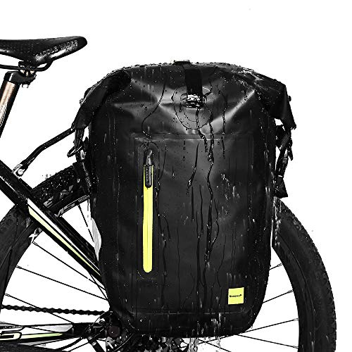 Selighting Gepäckträgertasche von WILDKEN wasserdichte Fahrradtasche Hinterradtasche Gepäckträger Tasche Schwarz 25L (Grün)
