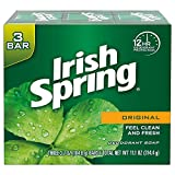 2. Irish Spring Deodorant Bar Soap, Original, 3 Bar