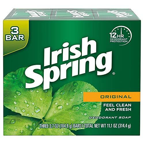Irish Spring Deodorant Bar Soap Original 3 Bar