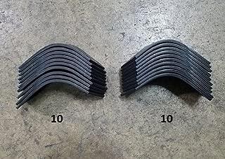 10 Each LH & RH Tiller Tines for Befco T30 Series Tiller 003-0104S & 003-104D