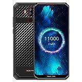 OUKITEL K13 Pro Smartphone Portable Débloqué, Grande Batterie 11000mAh, Charge Rapide 30W, 6.41' Ecran, 4GB RAM+64Go ROM, Android 9.0 Téléphone, 16MP+8MP Caméra, Dual 4G, NFC, OTG, Type-C, Noir