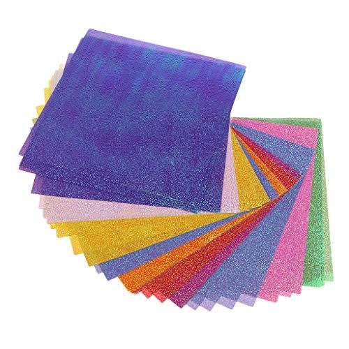 joyMerit 50 PCS Origami Papier Craft Paper Glitzer Papier Bastelpapier Origamipapier Zweiseitig Faltpapier
