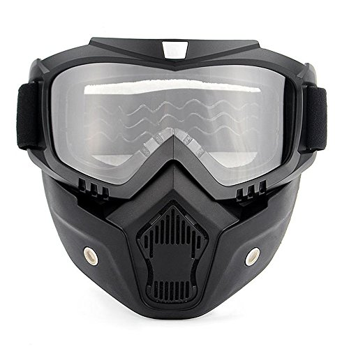 Ubelly Motorcycle Goggles Mask Detachable, Windproof dust-Proof Off- Road Goggles mask UV400 Protection Riding Motorbike Glasses, Cool Helmet Vintage Harley Motocross Goggles mask