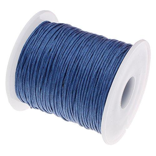 Parlin - 75 m gewaxt katoenen koord saffier blauw 1 mm gewaxt sieraden snoeren wax draden katoenen koord waxdraad waxband parelsnoer sieradenproductie C284