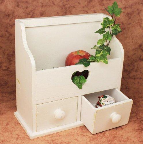 DanDiBo minicommode dressoir met 2 laden 12236 rek 28 cm sieradendoos shabby rek