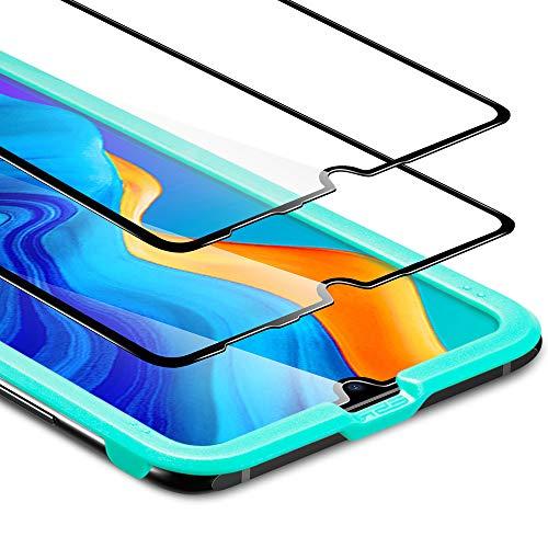 ESR Pellicola per Huawei P30 Lite [Protezione 3D +Copertura Completa][2 Pezzi], Pellicola Vetro Temperato [Anti-Graffo/Olio/Impronta] per Huawei P30 Lite