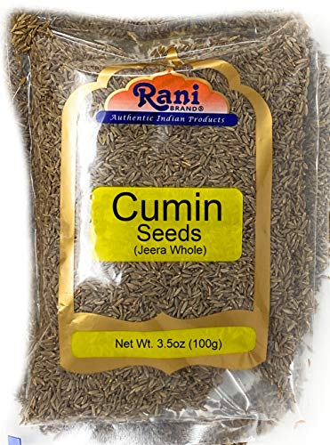 Rani Cumin Seeds Whole (Jeera) Spice 3.5oz (100g) ~ All Natural | Gluten Friendly | NON-GMO | Vegan | Indian Origin