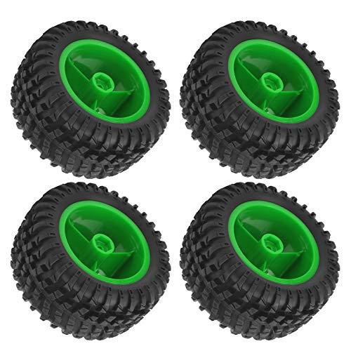 Vbest life Juego de Ruedas modificadas para Coche RC, Kit de neumáticos de Goma Resistentes al Desgaste Mejorado para Coche RC para Coches WLtoys(Verde)