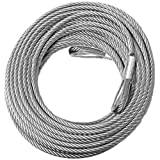 BILLET4X4 Come-Along Winch Replacement Cable - 3/8 inch X 50 ft (14,400lb Strength) (Vehicle Recovery)
