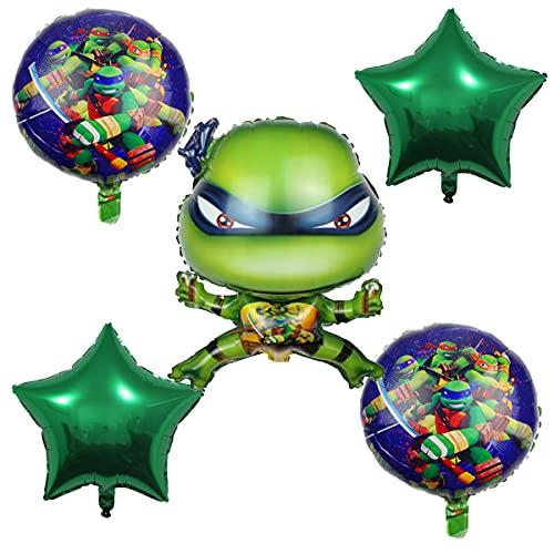 5PCS Teenage Mutant Ninja Turtles Party Teenage Mutant Ninja Turtles Balloons for Birthday Party Baby Shower Decorations
