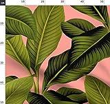 Botanisch, Palme, Blätter, Tropisch, Grün Stoffe -