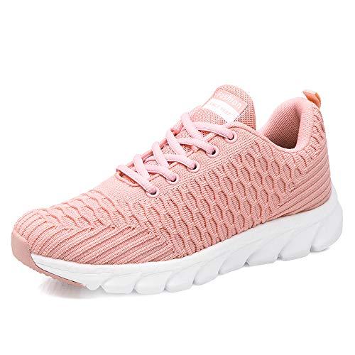 Guqi Nuove Scarpe Sportive Traspiranti Assorbimento degli Urti Allenamento Jogging Fitness da Donna Allenatore Sportivo Leggero Scarpe da Corsa(Pink-6 38EU