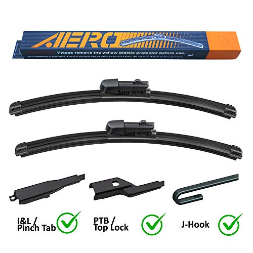 AERO Avenger 22'+22' Premium All-Season Beam Wiper Blades OEM Replacement for Chevrolet Chevy Silverado 1500 2500 3500 2020-1999 (Set of 2)