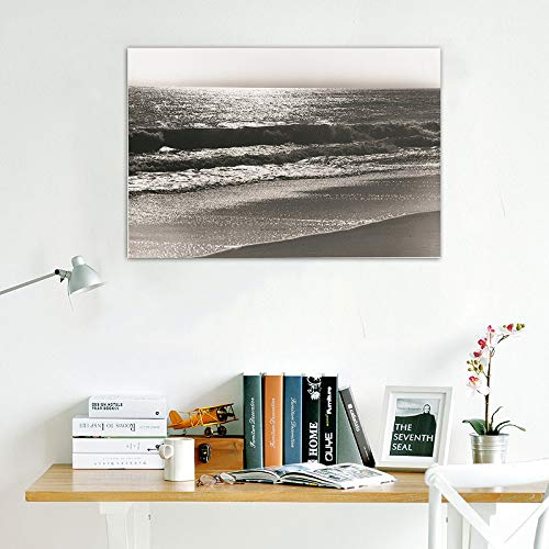 Landschaftsdruck Plakate Realist Sea Wave Photograph Malerei Wandkunst Leinwand Bild Home Decoration A 45X60CM