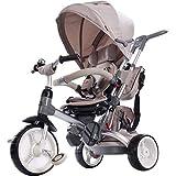 Happy Kids Triciclo Passeggino Seggiolino Reversibile 6in1 Avorio