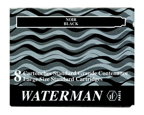 WATERMAN Recarga para Pluma Rollerball, Negro, 50 ml