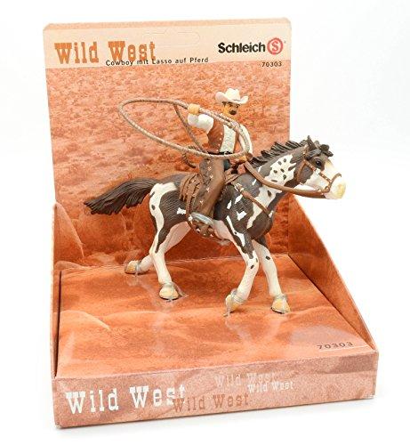 SCHLEICH 70303  - Cowboy mit Lasso auf Pferd