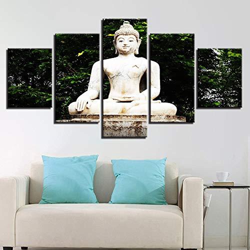 Jzxjzx Pintura óleo sin Marco Estatua Buda decoración